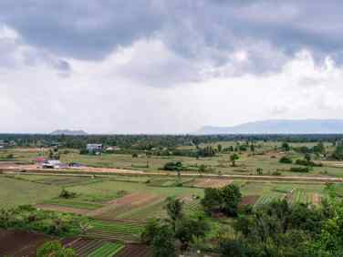 View from Phnom Chhngok Cave Temple, Kampot, Cambodia (2017-04-29)
