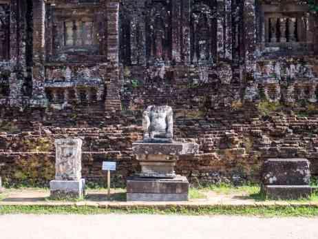 Sculpture at My Son Sanctuary, Hoi An, Vietnam (2017-05)