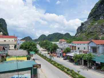 The main road in Phong Nha village, Vietnam (2017-06)