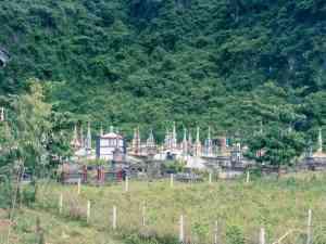 Christian graveyard in Phong Nha, Vietnam (2017-06)