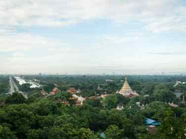 View of the Royal Palace from Mandalay Hill, Myanmar (2017-09)