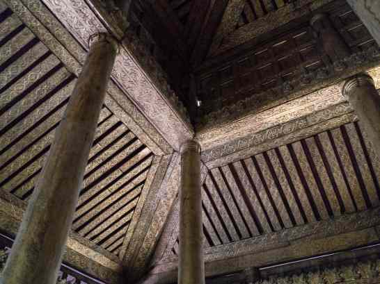 Ceiling at Golden Palace Monastery, Mandalay, Myanmar (2017-09)