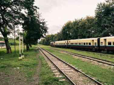 Myanmar train travels: Shwenyaung station on the slow train Shwenyaung (Inle Lake) to Thazi, Myanmar (2017-10)