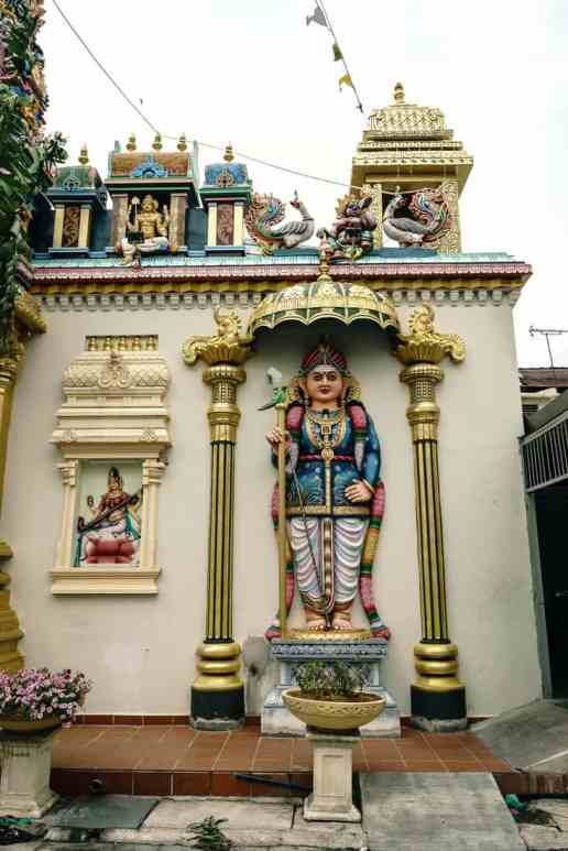 Penang Street Art: Architecture at the Sri Mahamariamman Hindu Temple, George Town, Malaysia - 20171222-DSC03166