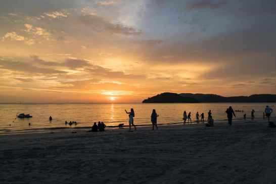 Sunset at Pantai Cenang beach, Langkawi, Malaysia