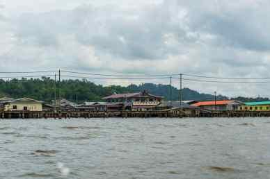 Purple house at Kampong Ayer water village, Bandar Seri Begawan, Brunei-Darussalam