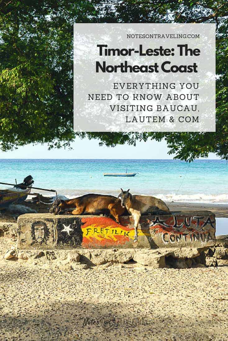 Learn how to visit Baucau and Timor Leste's Northeast along a stunning coastal road that runs right along uncrowded beaches, rice fields, and bushland.  #backpacking #southeastasia #offthebeatentrack