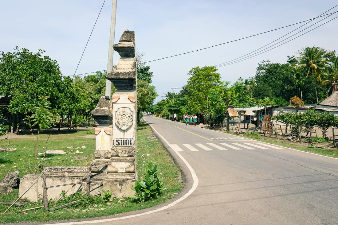 Entrance to Suai Loro village, East Timor