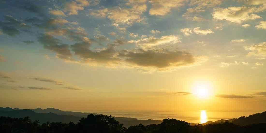 Sunset over the sea, Balibo Fort, East Timor