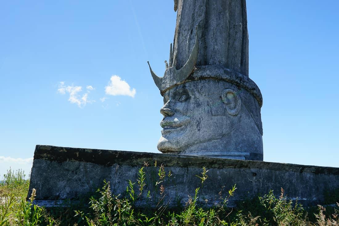 Tribal king at Christo Rei do Letefoho, East Timor