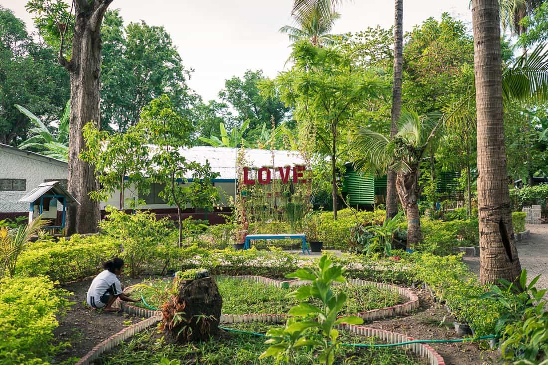 Dominican Sister's garden in Pante Macassar, Oecusse
