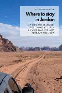 Read my comprehensive reviews of (budget) hotels in Jordan that I stay at during my visit to Amman, Madaba, and Petra/Wadi Musa; complete with pros and cons for each. This post also offers a handy guide on where to stay in Petra. #backpacking #travelblogger #bestofjordan