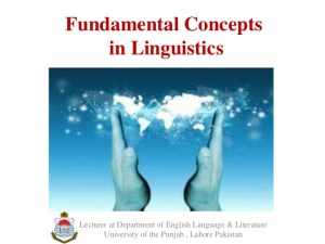 Take Advantage from Basic concepts of linguistics
