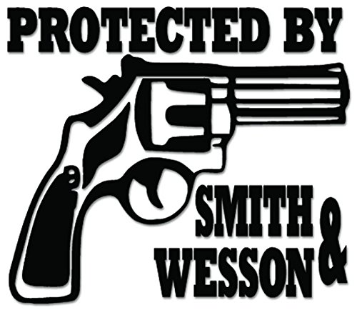 image of a pistol with Protected By Smith & Wesson