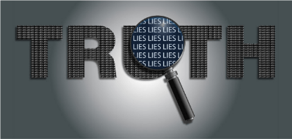 many lies do not become truth