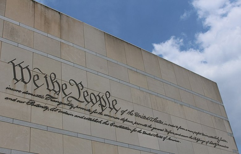 We The People inscription