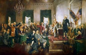 Howard Chandler Christy's painting of the signing of the United States Constitution