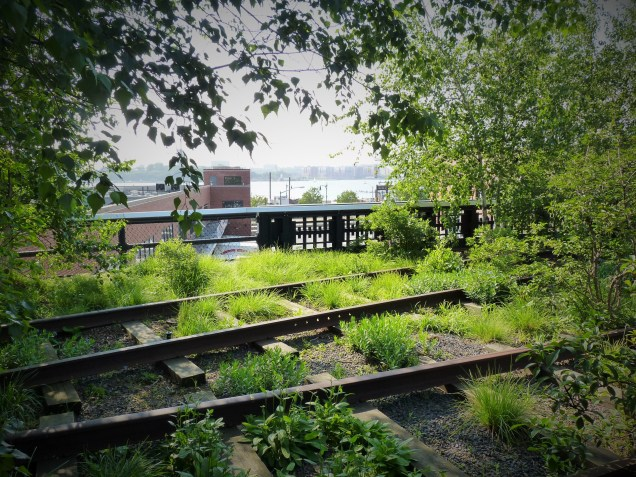 High Line Manhattan. On the run in New York City