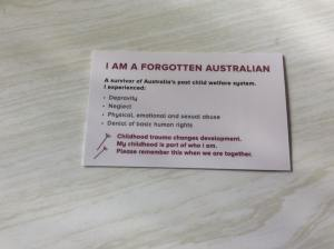 Forgotten Australians card