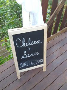 Sign - Chelsea & Sean, June 16 2018