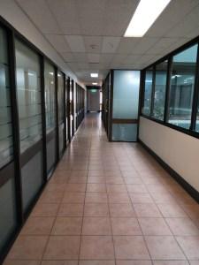 Empty office corridoor
