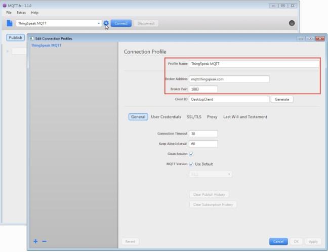 MQTT.fx Screenshot