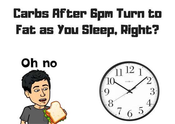 eating carbs at night make you fat