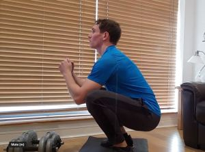 bodyweight squat at home