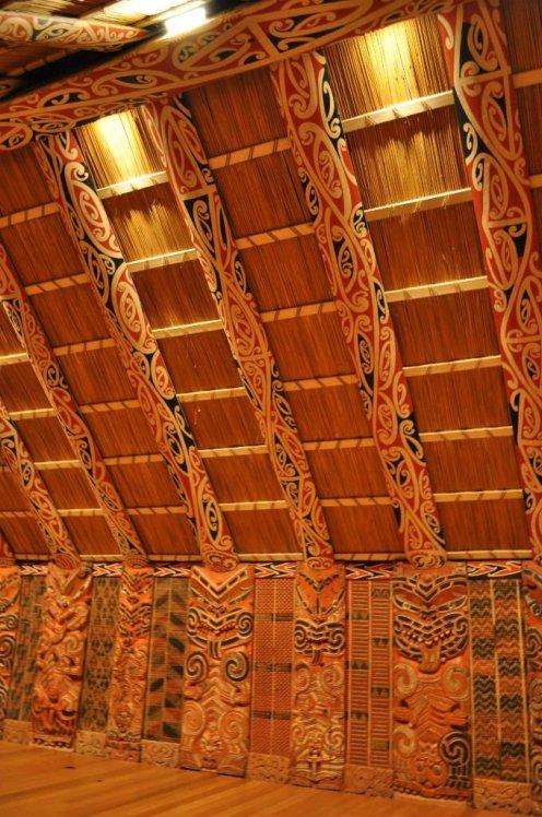 Inside Maori Meeting House