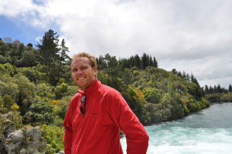 Bill at the Huka falls
