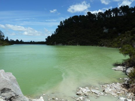 Geothermal lake
