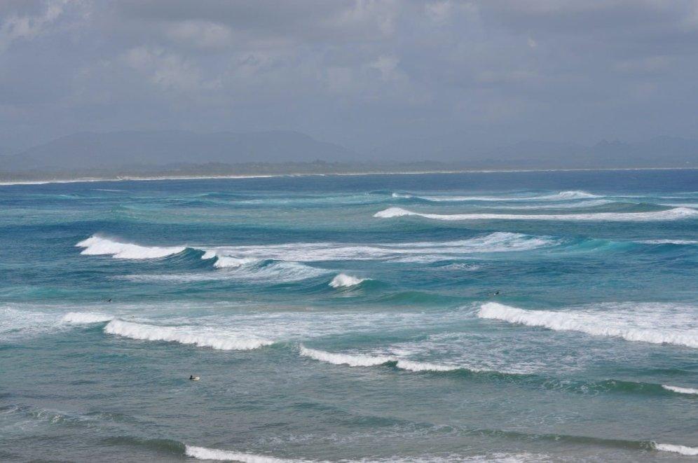 The sea at Byron Bay