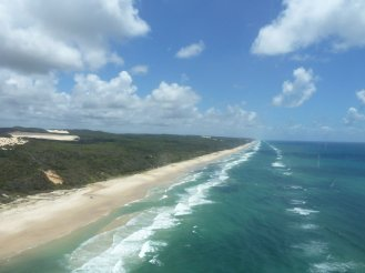 75 mile beach from the air