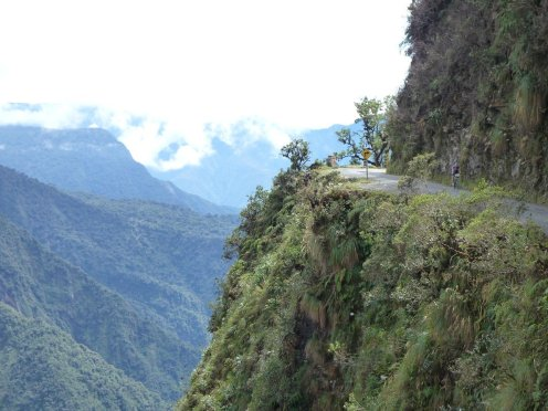 Death Road Bolivia steep drop