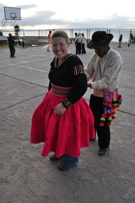 Dressing up Peruvian style