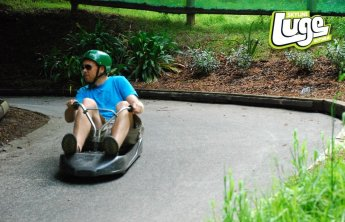 Bill riding the luge