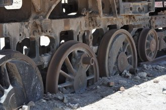 Train Cemetery Buried Wheels