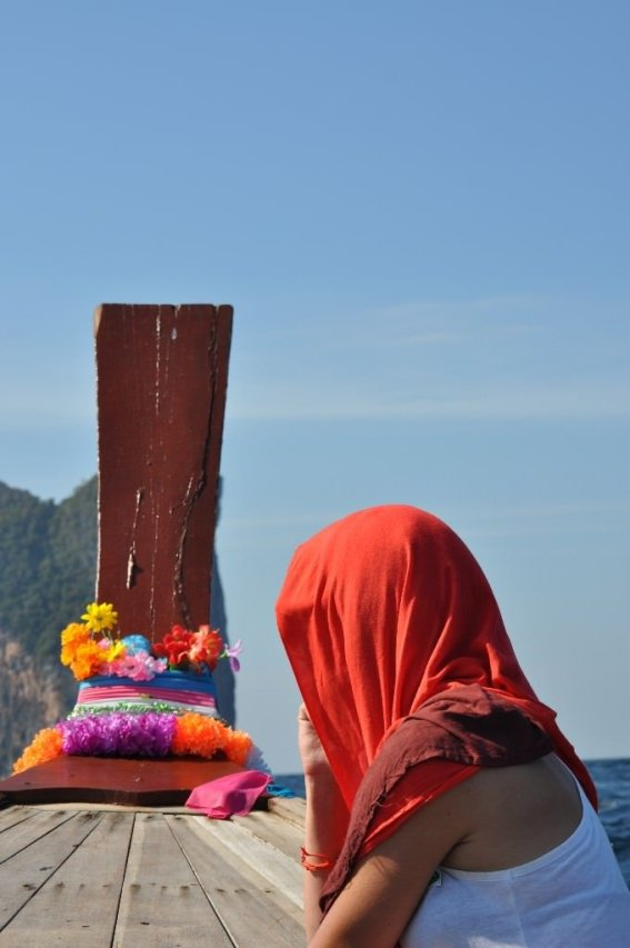 Long-tail boat ride out to Phi Phi Ley