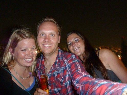 Us at the sky bar