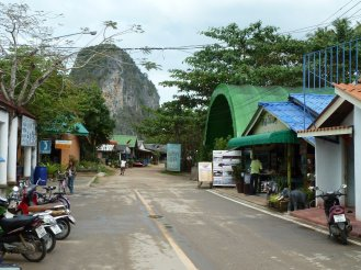 The local town