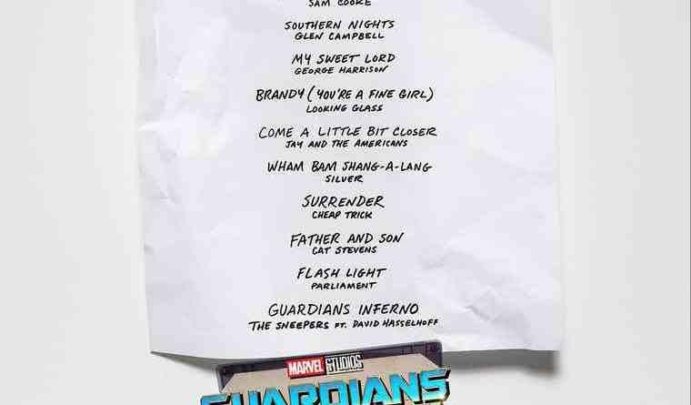 Guardians Of The Galaxy Vol. 2 OST Tracklist