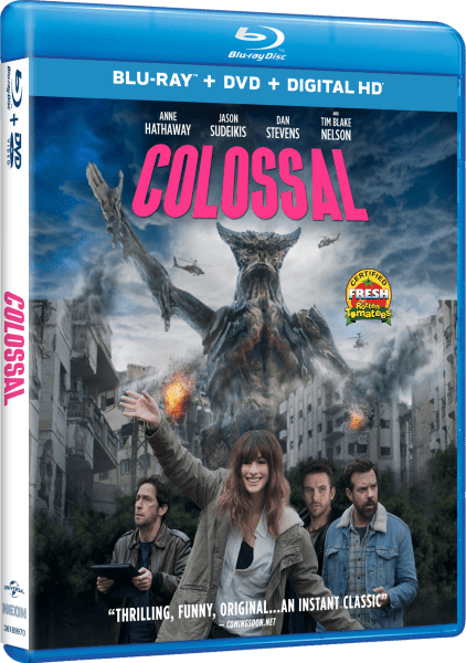 Colossal Blu-Ray/DVD/Digital HD cover (Universal Pictures Home Entertainment)