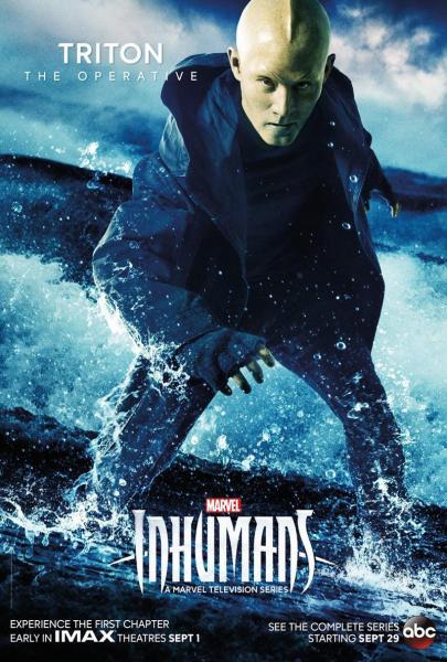 Marvel's Inhumans Triton poster (Marvel Studios/ABC)