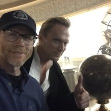 Paul Bettany and Ron Howard (courtesy of @RealRonHoward on Twitter)