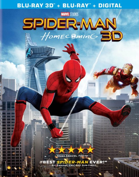 Spider-Man: Homecoming 3D Blu-Ray/Blu-Ray/Digital HD (Sony Pictures Home Entertainment)