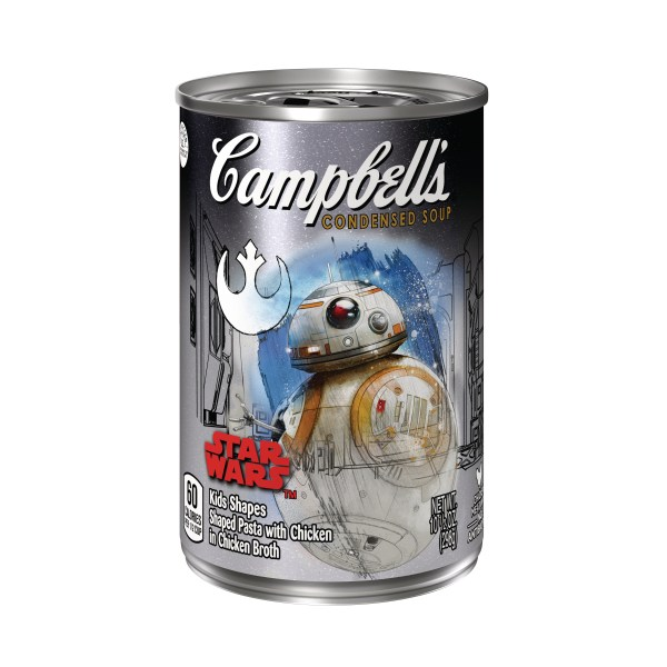 Campbell's Condensed Soup Star Wars Kids Shapes BB-8 label