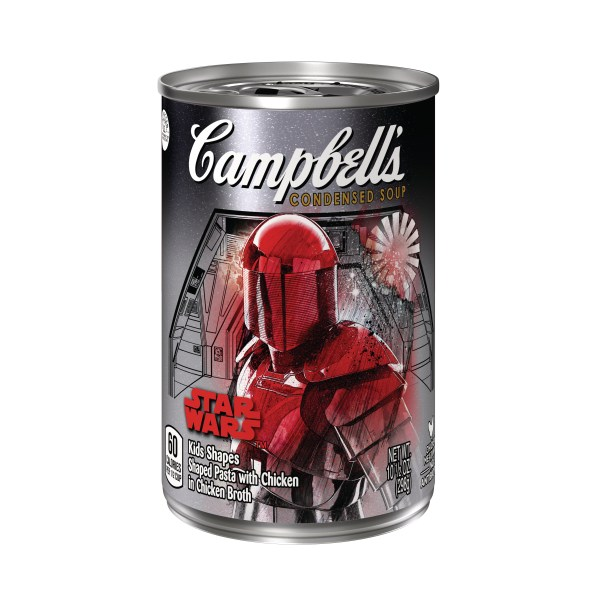 Campbell's Condensed Soup Star Wars Kids Shapes Praetorian Guard label