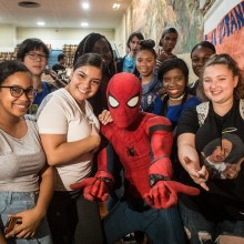 Spider-Man Stomp Out Bullying NYC High School Event