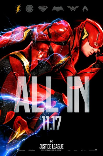 Justice League The Flash character poster (Warner Bros. Pictures)