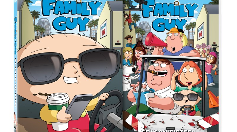 Family Guy Season 15 cover (20th Century Fox Home Entertainment)